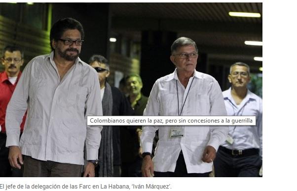 Colombianos quieren la paz, pero sin concesiones a la guerrilla