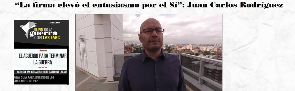 """""""Firma del Acuerdo elevó entusiasmo por el Sí"""""""