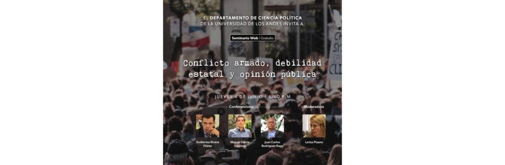 Conflicto armado, presencia estatal y opinión pública